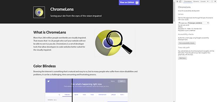 Imagem demonstrando a ferramenta ChromeLens