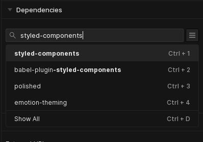 Mostrando como adicionar styled components.