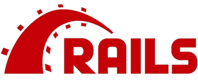 Logo do framework Rails.