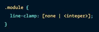 Tela de editor de código mostrando o módulo line-clamp.