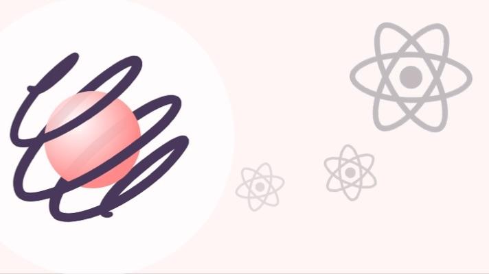 Ilustração com o logo do React.